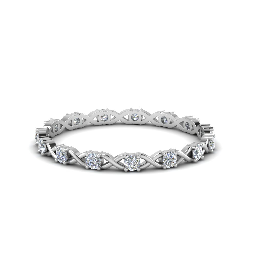 X design round diamond eternity band in FDEWB123627RO NL WG