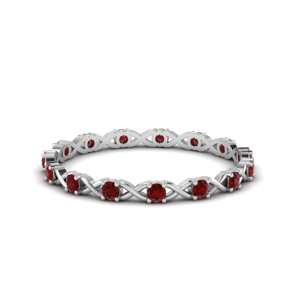 Accent Ruby Round Eternity Band