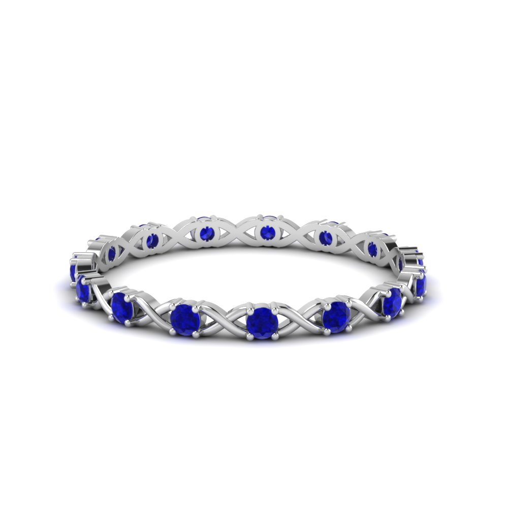 Infinity Sapphire Eternity Band
