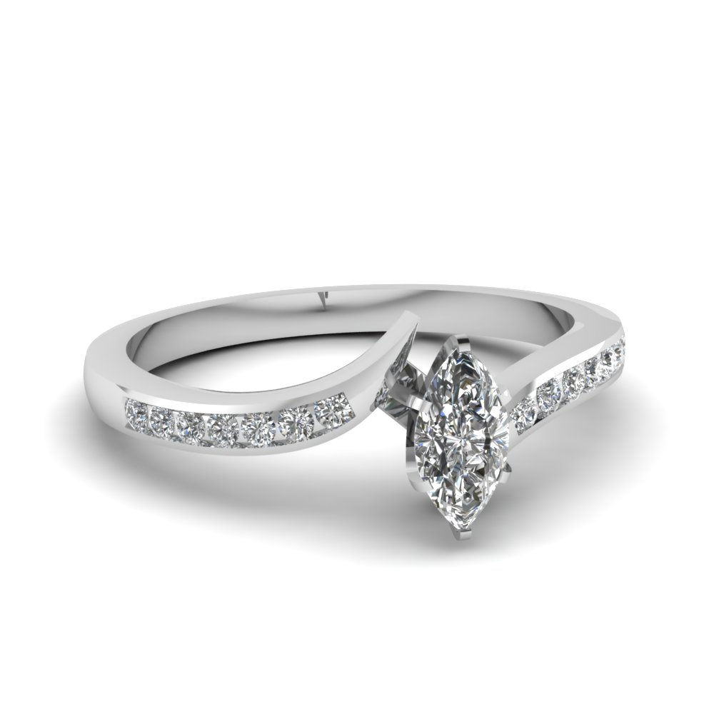 0.75 Ct. Marquise Cut Diamond Ring For Women
