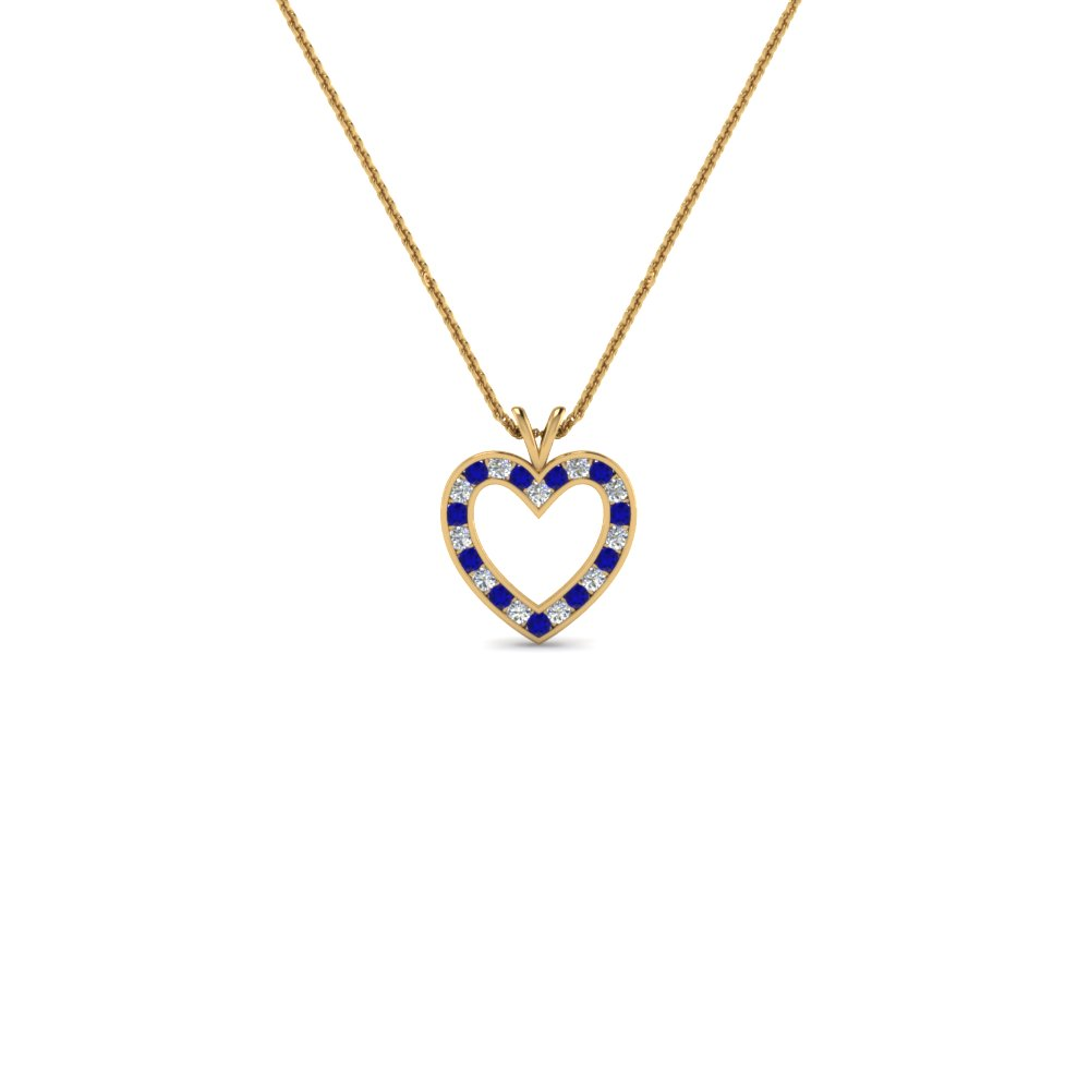 Affordable heart diamond pendant necklace for women with blue affordable heart diamond pendant necklace for women with blue sapphire in 14k yellow gold fdhpd200wdgsabl nl aloadofball Gallery