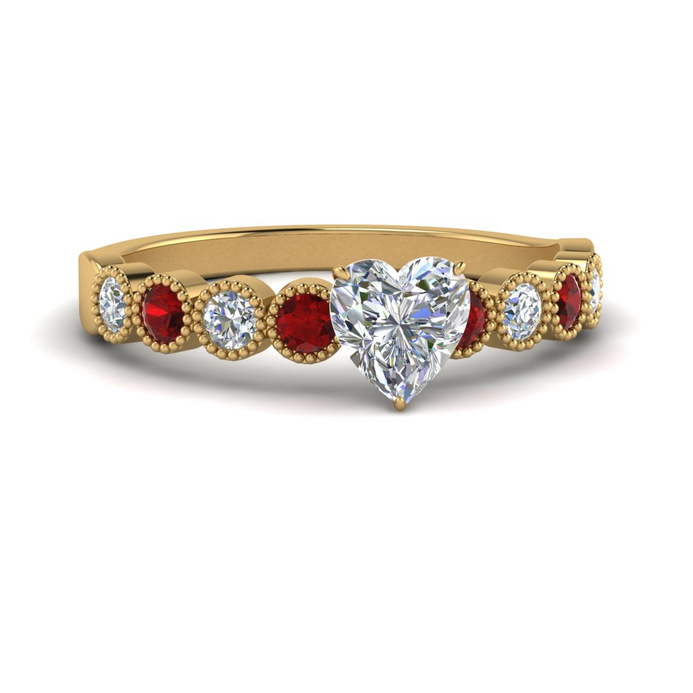 antique-bezel-set-heart-diamond-engagement-ring-with-ruby-in-FD9337HTRGRUDR-NL-YG
