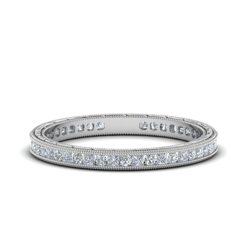 Antique Channel Diamond Eternity Band