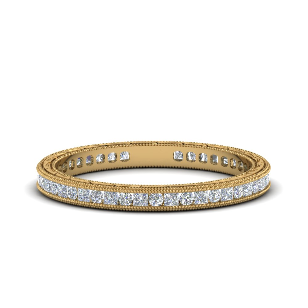 0.50 ct. antique channel diamond eternity band in 14K yellow gold FDEWB69814B NL YG