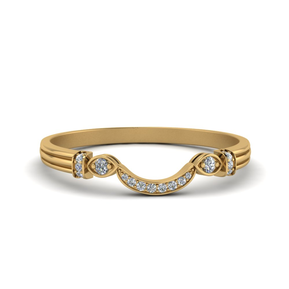 Pave Curved Diamond Band