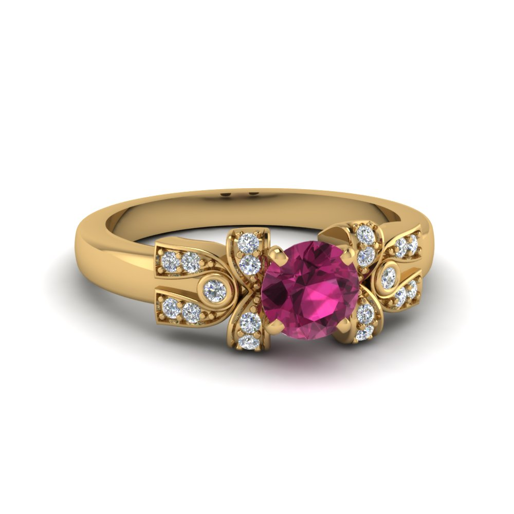 Antique Pink Sapphire Engagement Ring