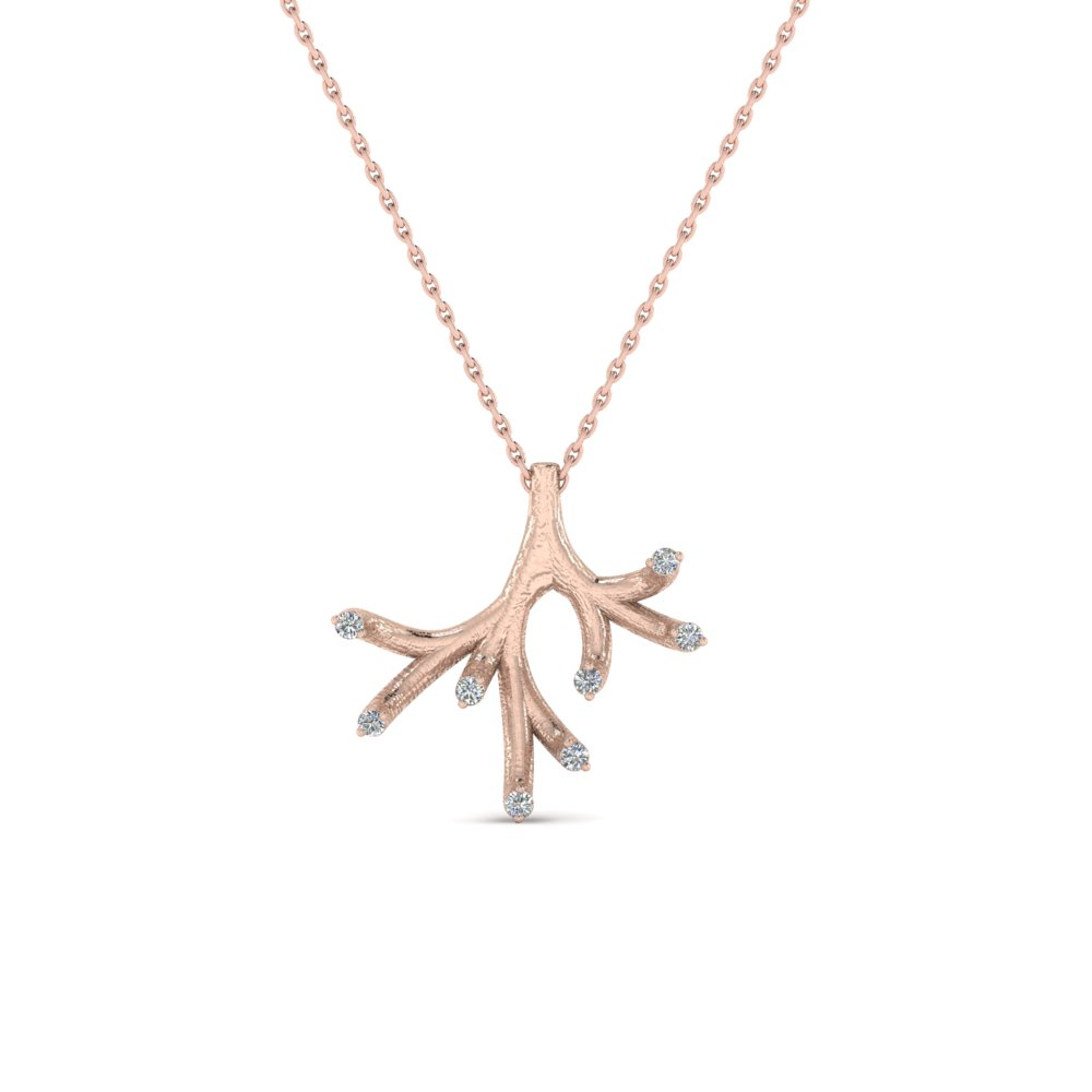 Branch Diamond Pendant