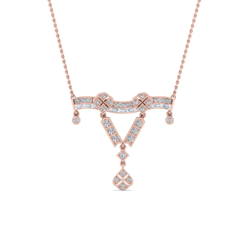 antique diamond necklace gifts for women in FDPD8472ANGLE2 NL RG.jpg