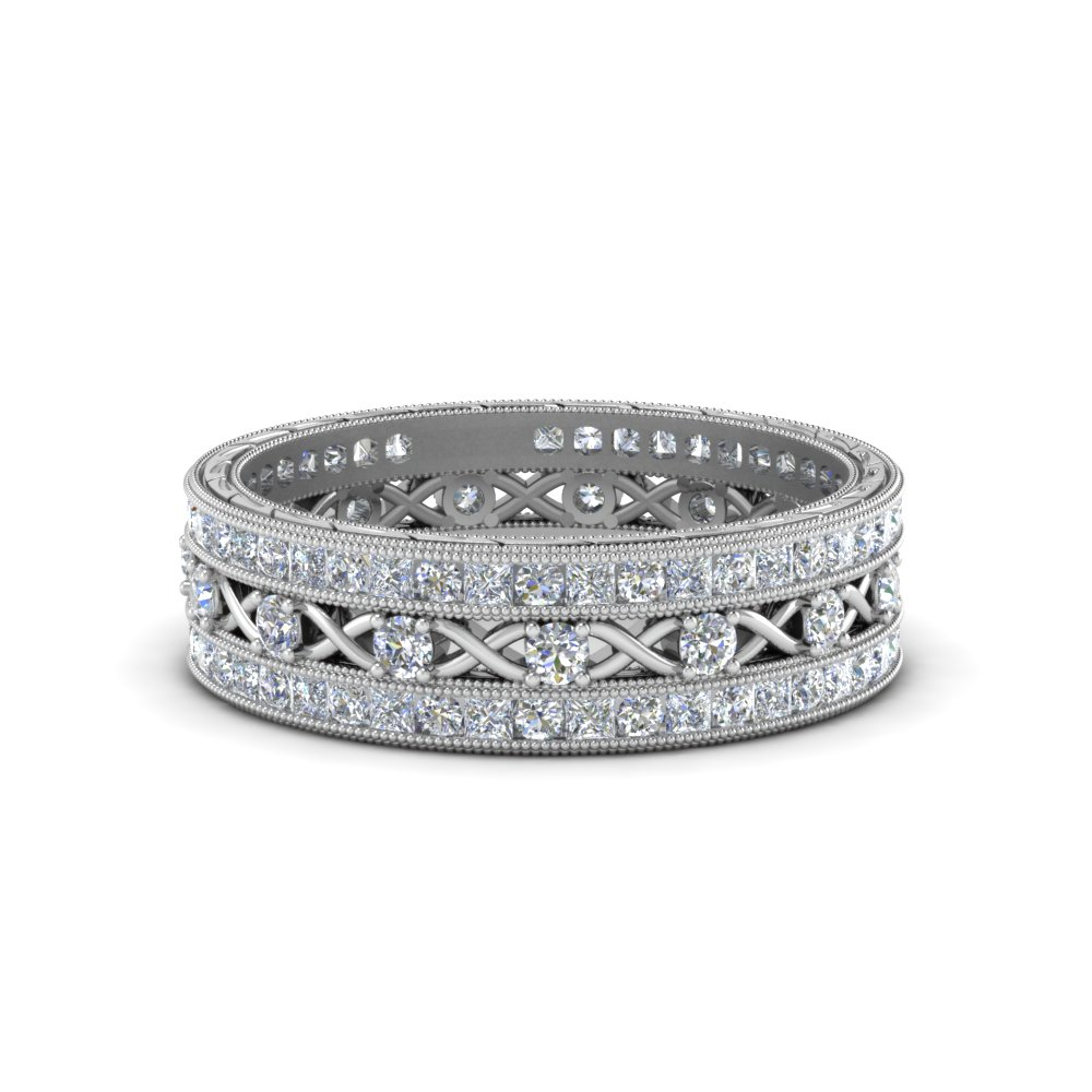 Vintage Platinum Stackable Band
