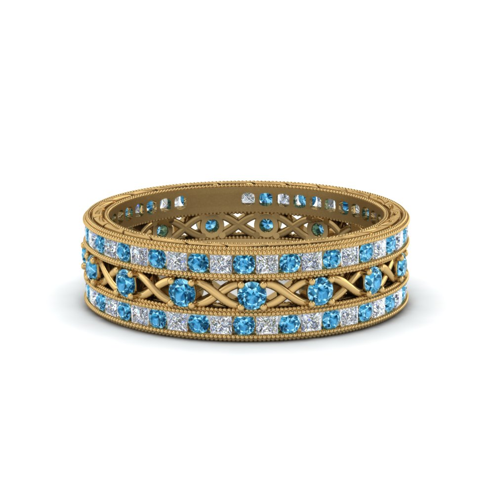 antique-diamond-stackable-band-with-blue-topaz-in-FD9117ROGICBLTOANGLE3-NL-YG