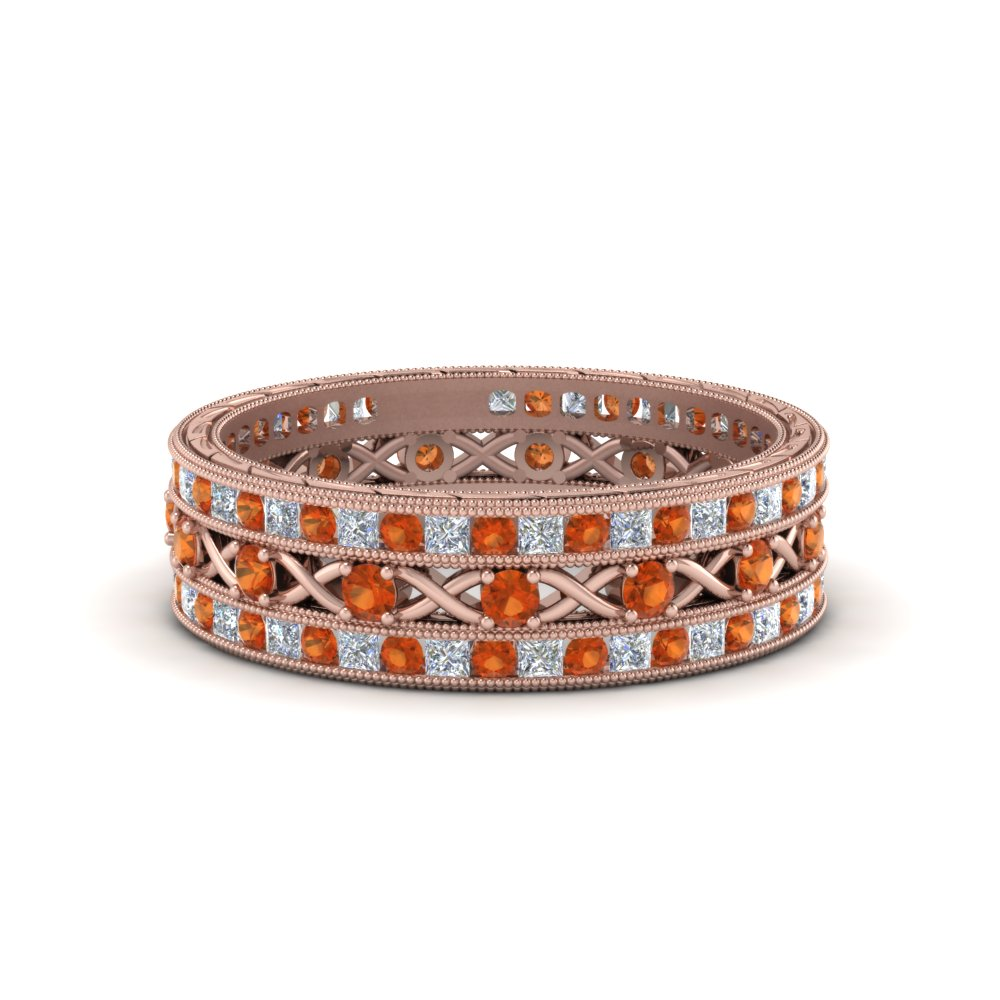 antique-diamond-stackable-band-with-orange-sapphire-in-FD9117ROGSAORANGLE3-NL-RG