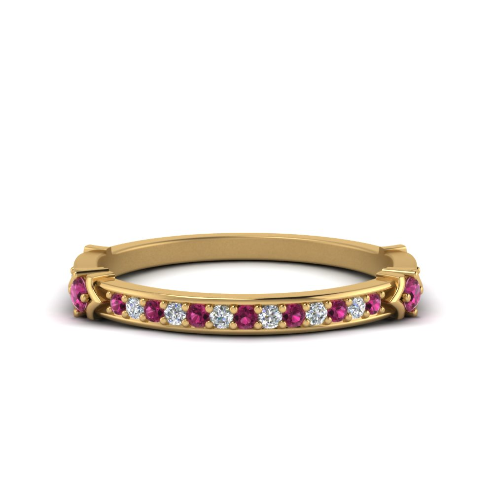 Antique Pink Sapphire Band