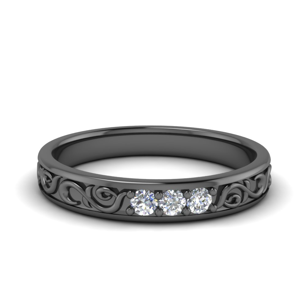 Antique Black Gold Diamond Ring