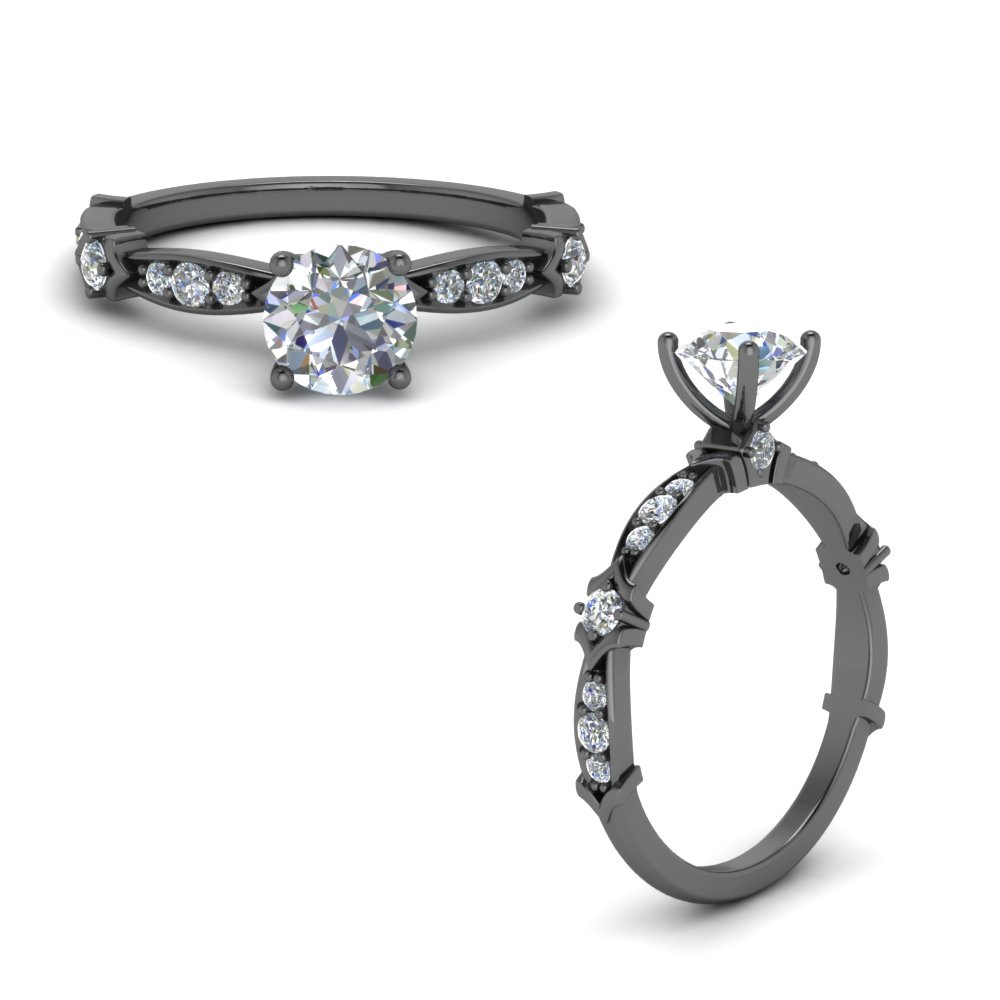 Art Deco Pave Engagement Ring