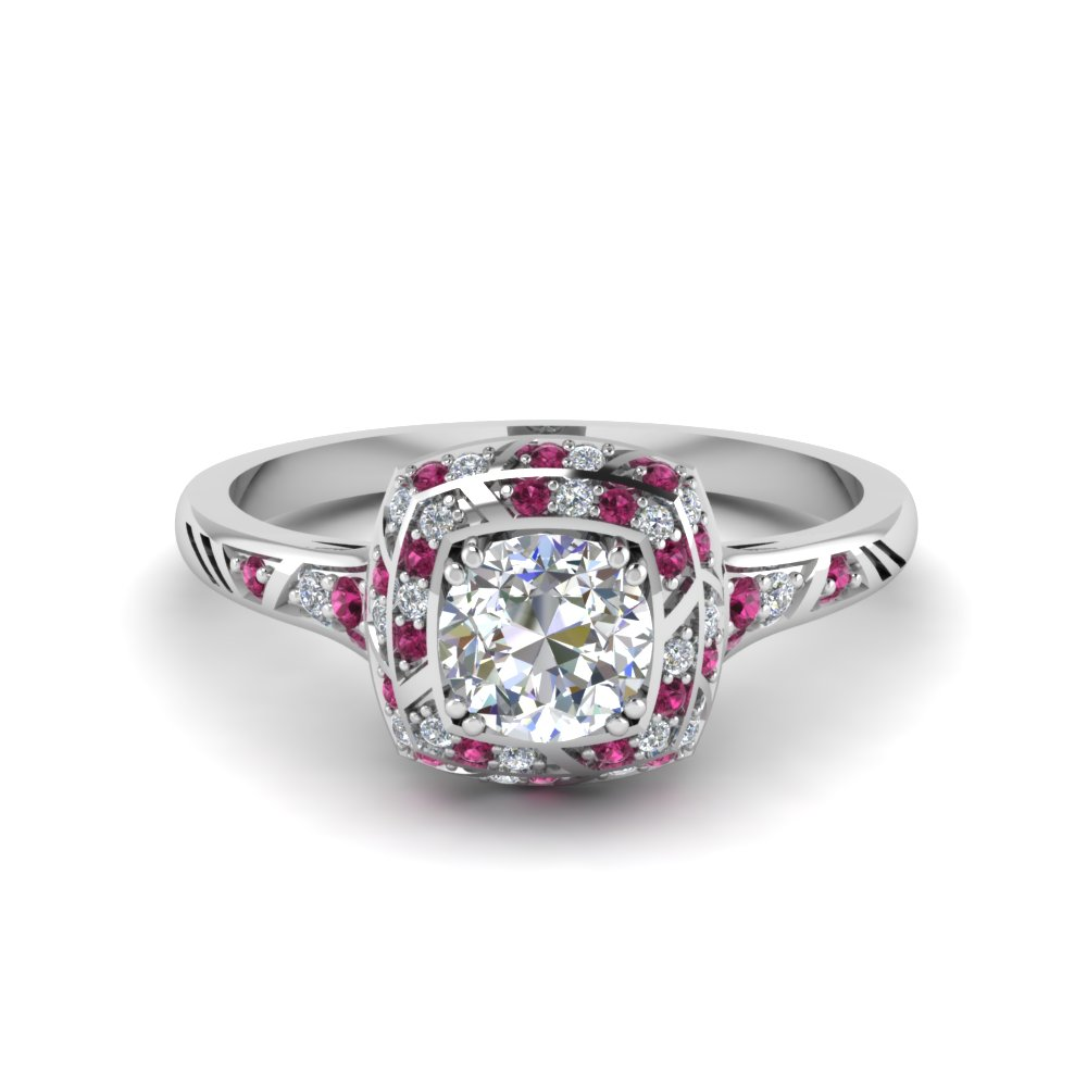 antique-pave-halo-diamond-engagement-ring-with-pink-sapphire-in-FD121961RORGSADRPI-NL-WG