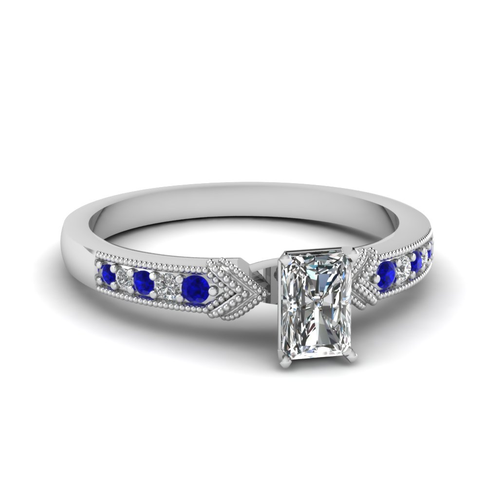 Sapphire Pave Set Ring
