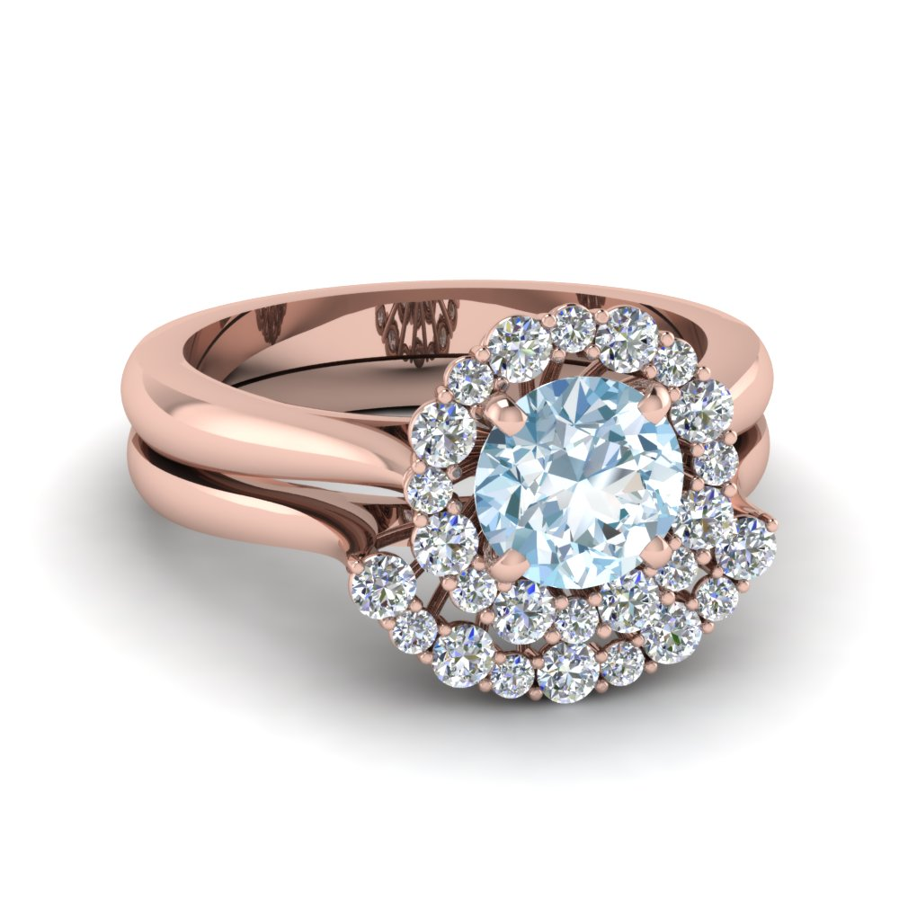 aquamarine engagement rings - Aquamarine Wedding Rings