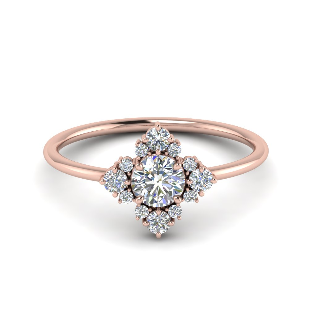 Petite Cluster Diamond Ring