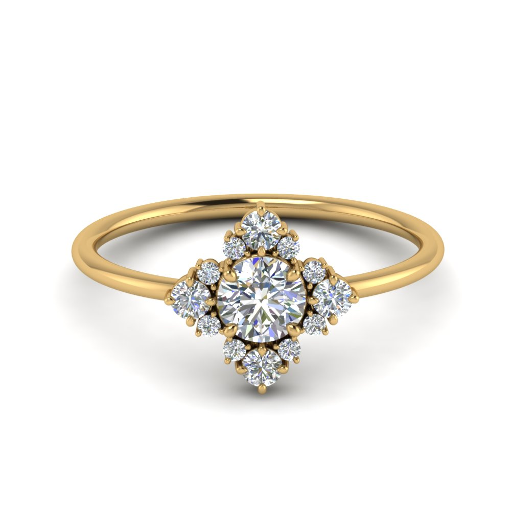 art-deco-diamond cluster-engagement-ring-in-FD9103RO-NL-YG