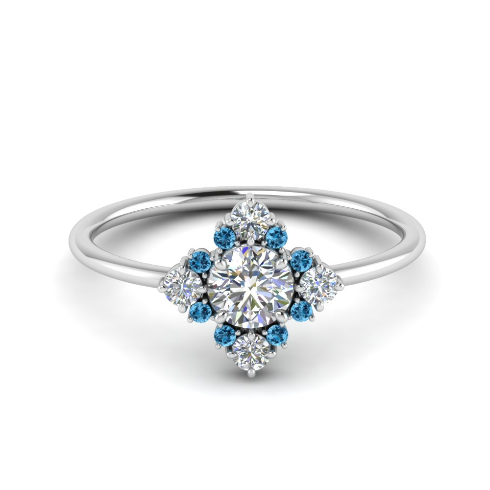art-deco-diamond cluster-engagement-ring-with-blue-topaz-in-FD9103ROGICBLTO-NL-WG