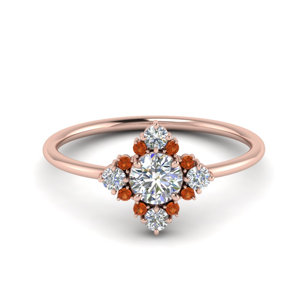 art-deco-diamond cluster-engagement-ring-with-orange-sapphire-in-FD9103ROGSAOR-NL-RG