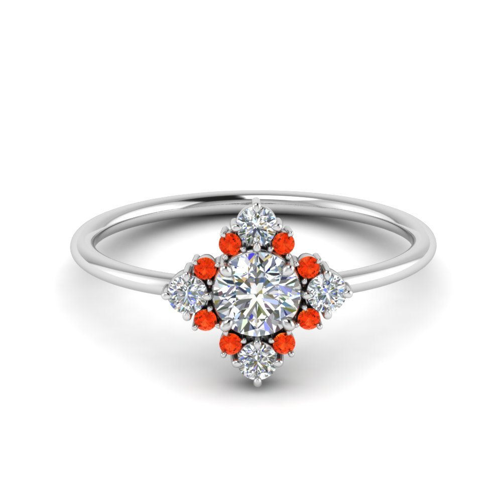 art-deco-diamond cluster-engagement-ring-with-orange-topaz-in-FD9103ROGPOTO-NL-WG