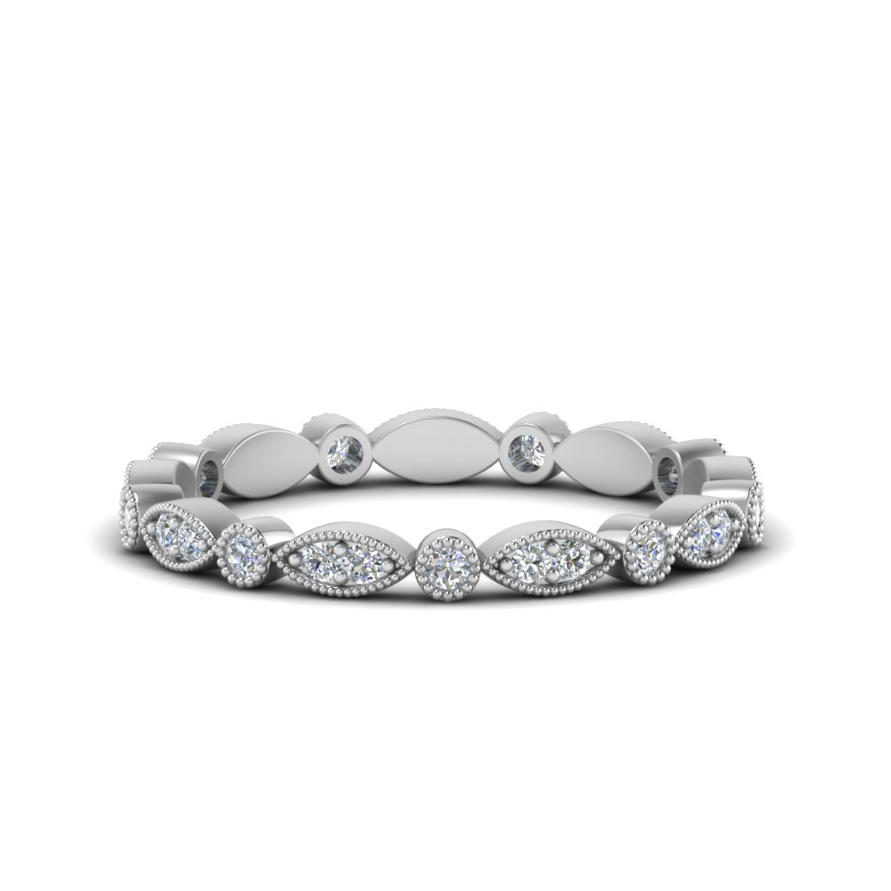 0.35 ct. art deco diamond eternity band in FD8641B NL WG