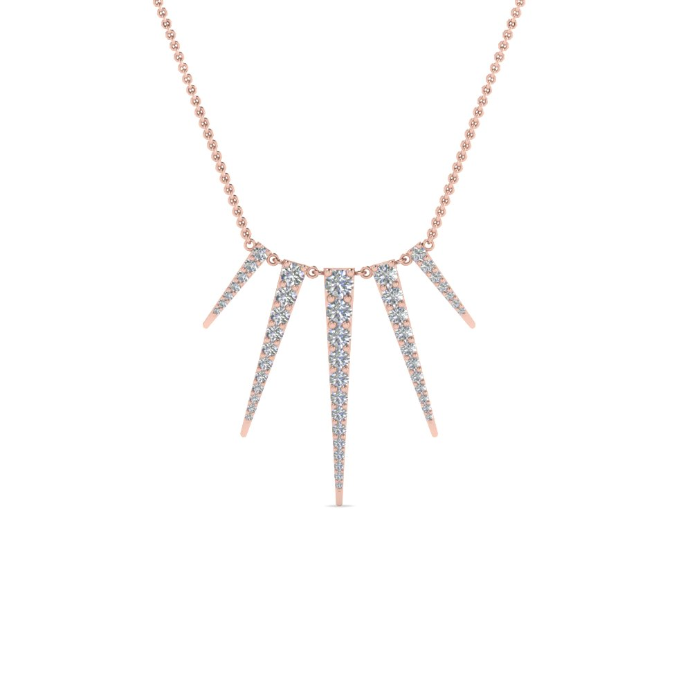 Art Deco Modern Diamond Necklace