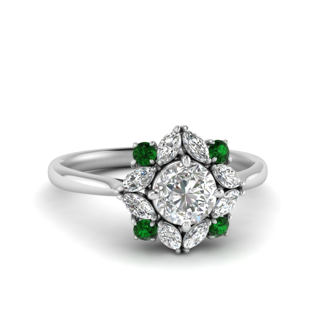 art-deco-halo-diamond-engagement-ring-with-emerald-in-FD123772RORGEMGR-NL-WG