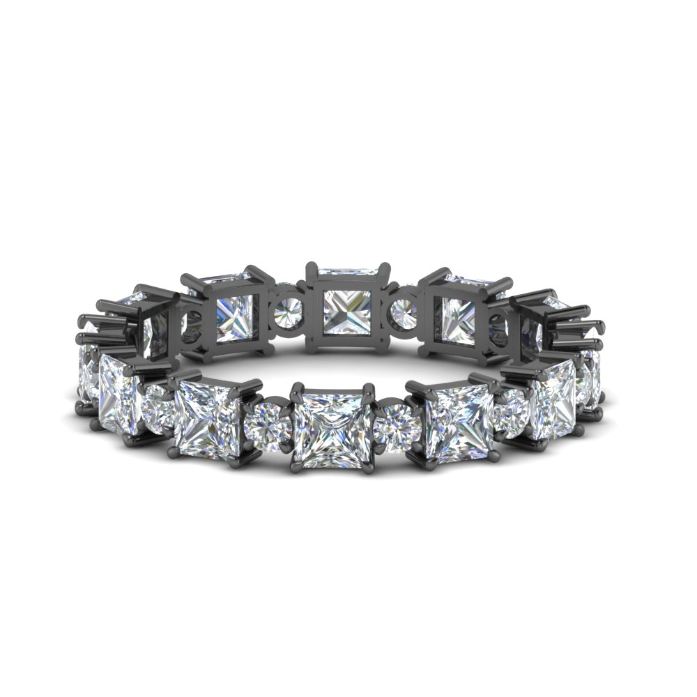 Art Deco Diamond Black Gold Band