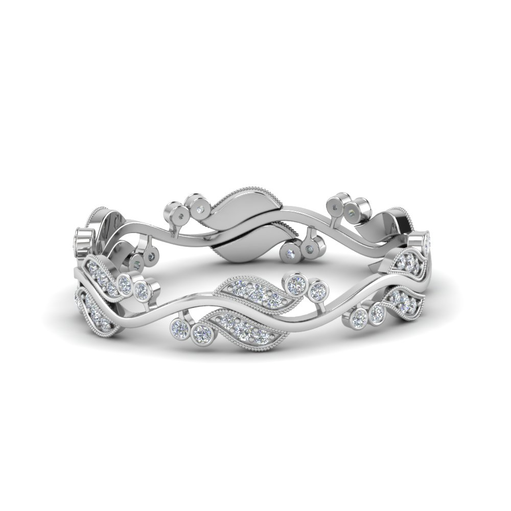 0.50 Ctw. Art Nouveau Diamond Anniversary Band