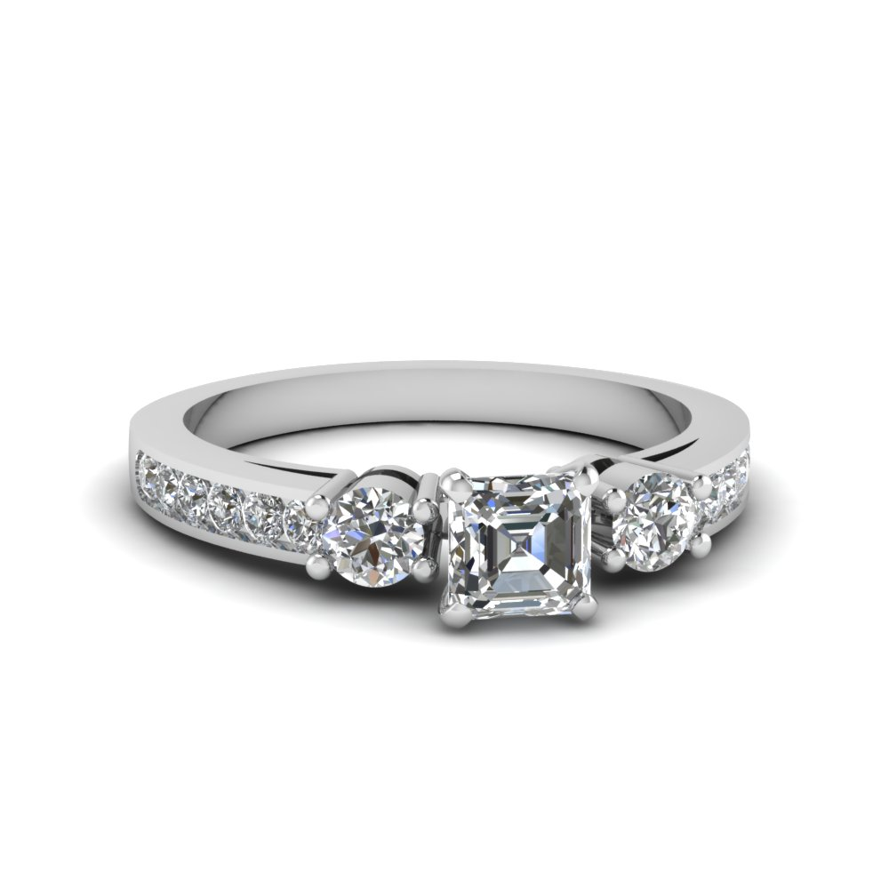 Three Stone Diamond 1 Ct. Ring
