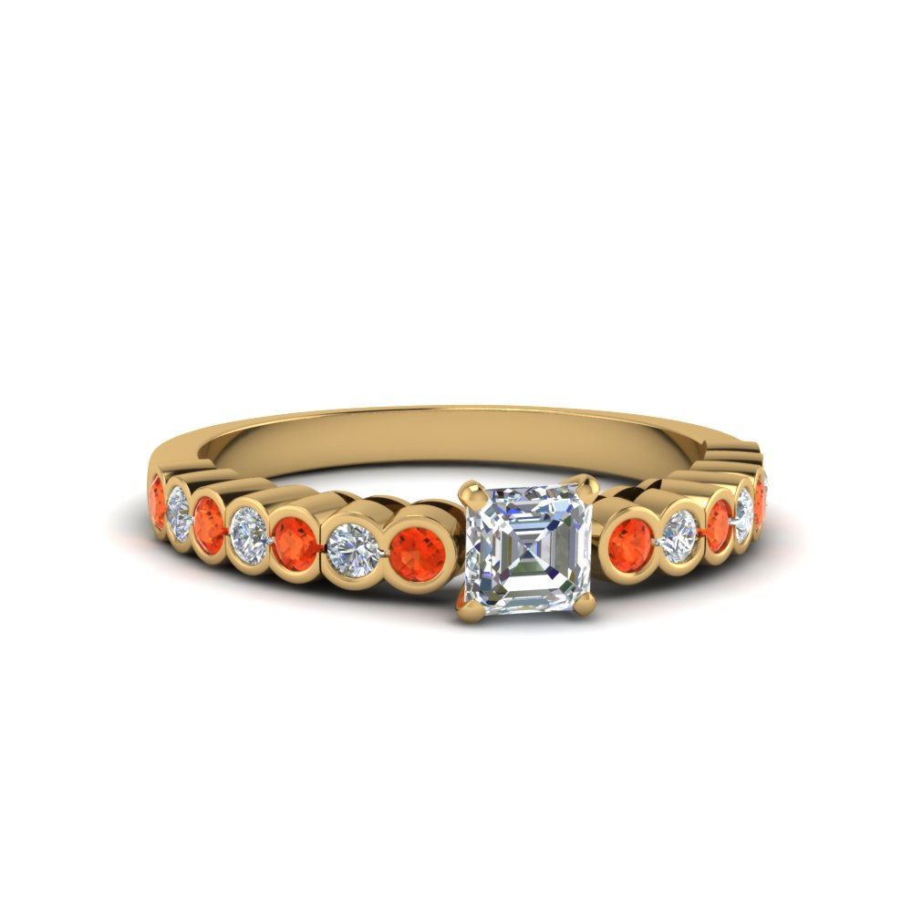 one-carat-asscher-cut-diamond-bezel-set-engagement-ring-with orange topazin FDENS3015ASRGPOTO NL YG.jpg