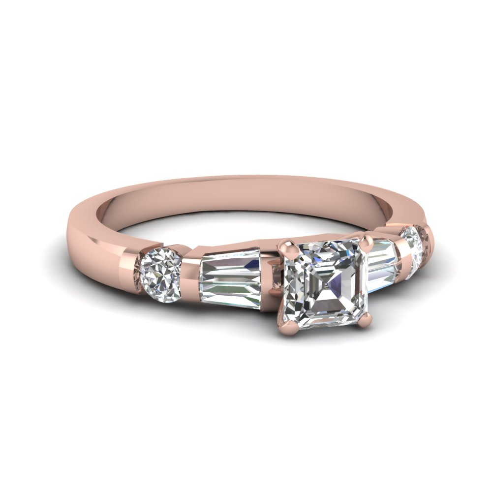 Asscher Cut diamond Wedding Ring