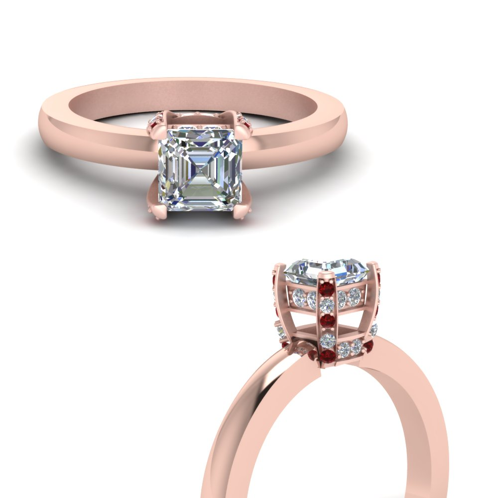 asscher cut diamond basket prong engagement ring with ruby in FDENR8987ASRGRUDRANGLE3 NL RG.jpg