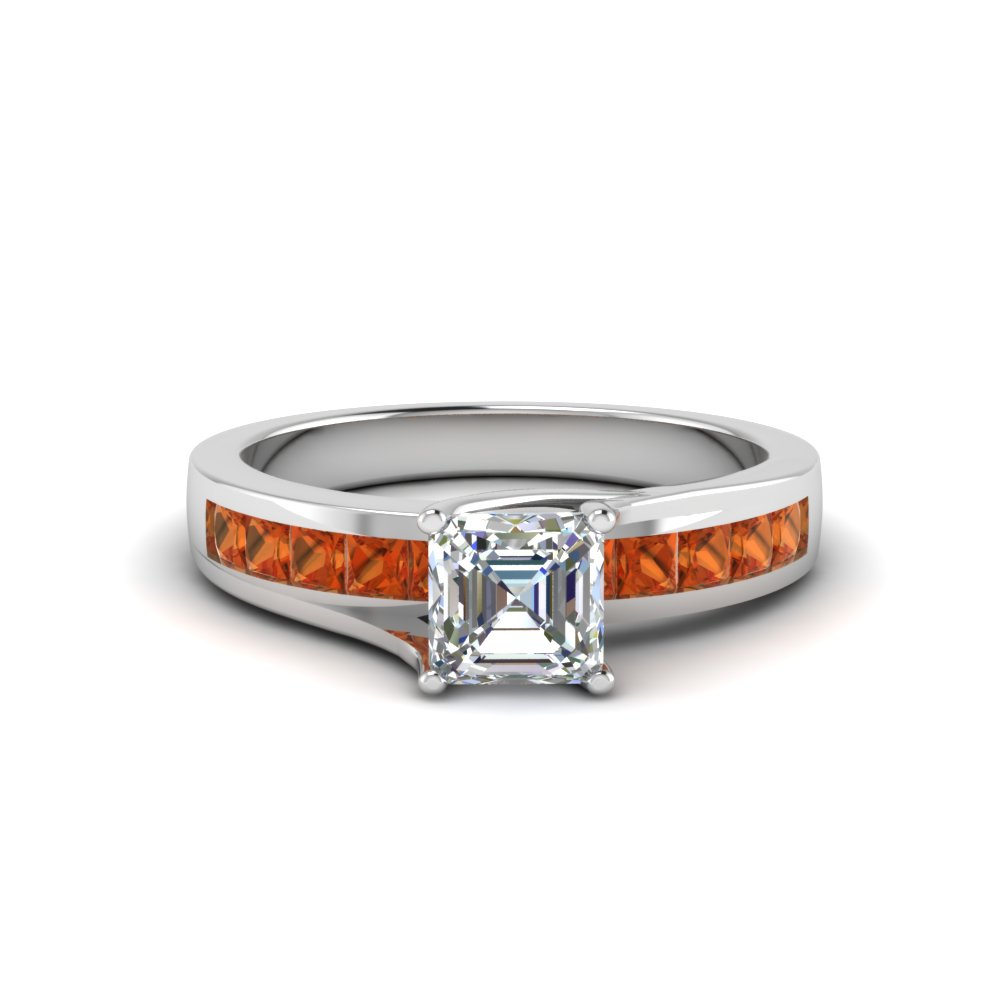 Unique Non Diamond Engagement Ring  For Her