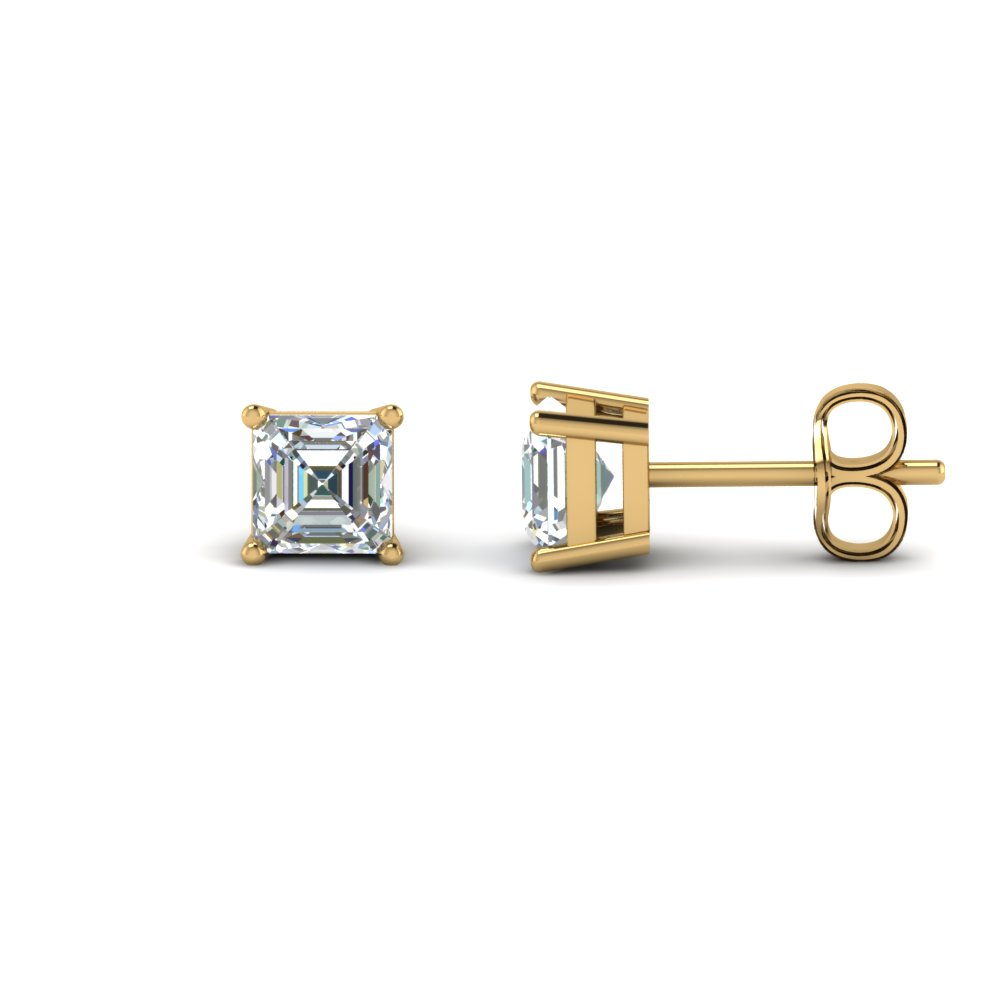 2 Carat Asscher Cut Diamond Earring