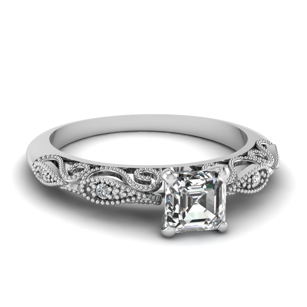 engagement rings product raine ring turgeon asscher diamond cut