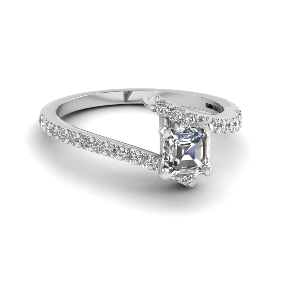 e308c3b718613e diamond bypass asscher cut engagement ring half carat in FDENS3007ASR NL WG  GS