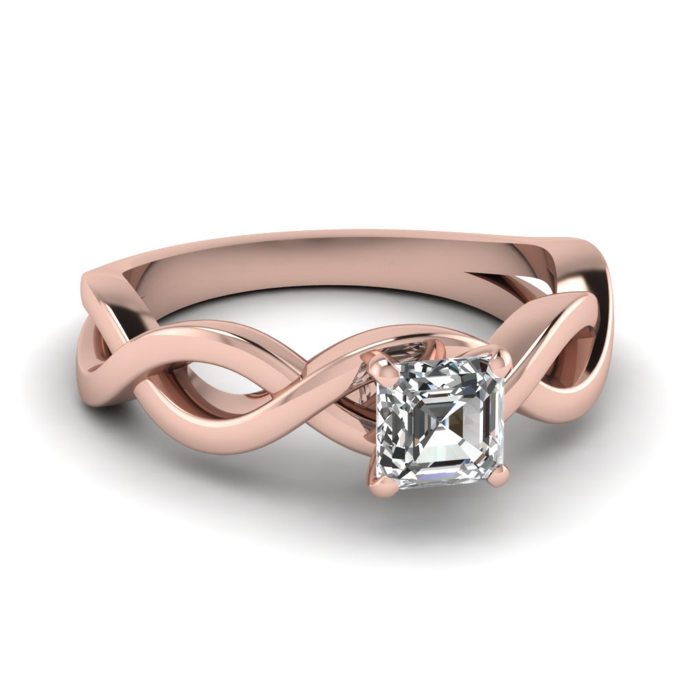 infinity asscher diamond solitaire engagement ring in FD1123ASR NL RG