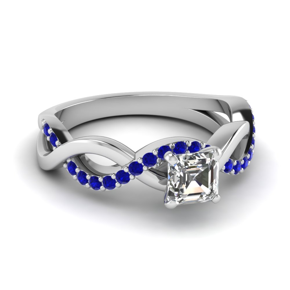 Purchase Sparkling Sapphire Wedding Rings For Women| Fascinating Diamonds