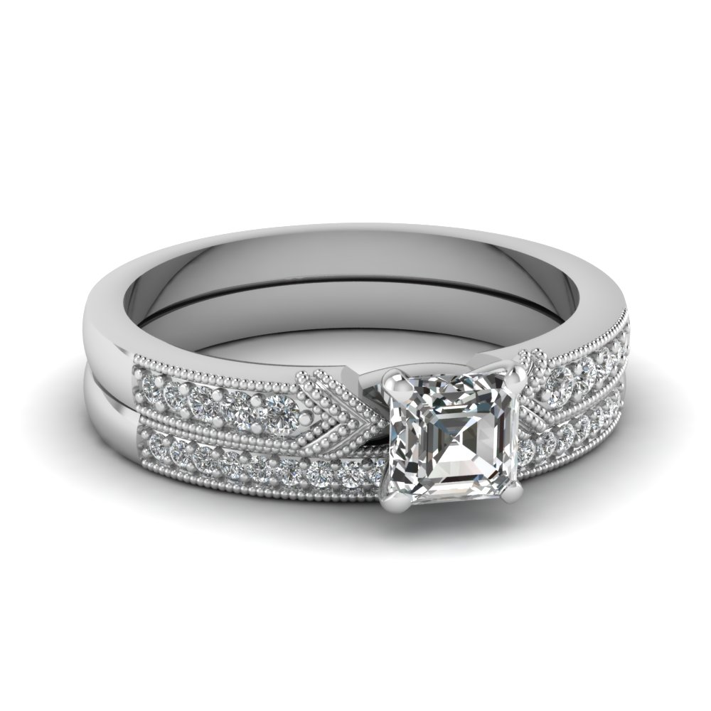 Asscher Cut Wedding Set
