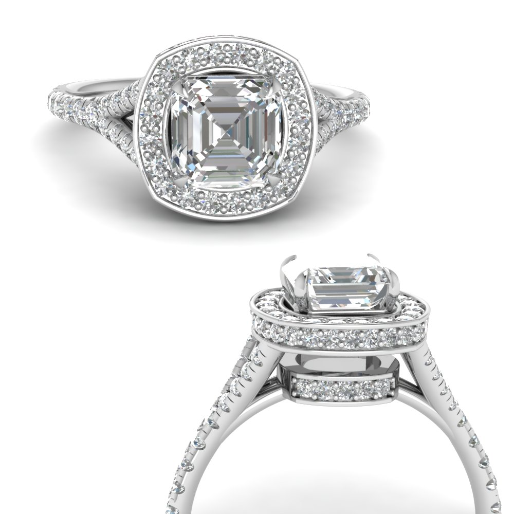 asscher-cut-diamond-halo-Split-engagement-ring-in-FDENR8753ASRANGLE3-NL-WG