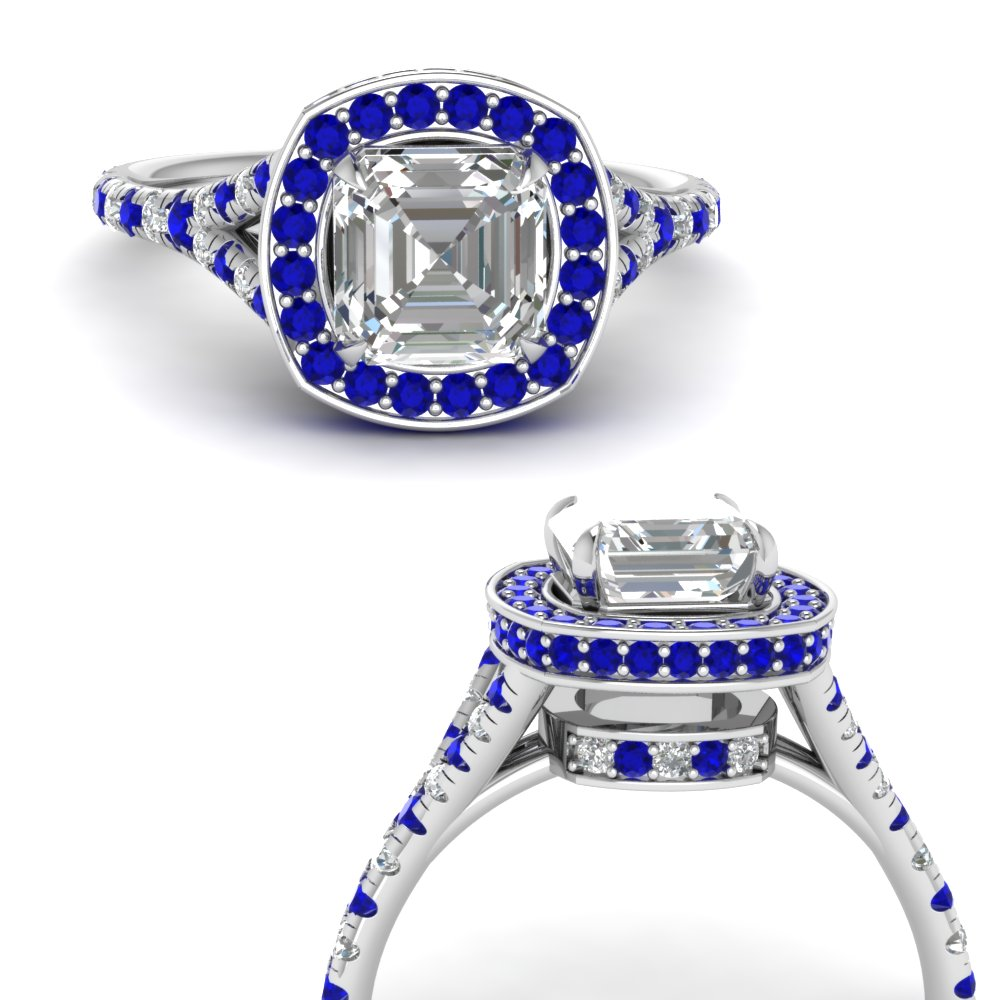 asscher-cut-diamond-halo-Split-engagement-ring-with-sapphire-in-FDENR8753ASRGSABLANGLE3-NL-WG
