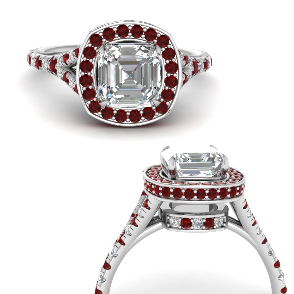 asscher-cut-diamond-halo-Split-engagement-ring-with-ruby-in-FDENR8753ASRGRUDRANGLE3-NL-WG