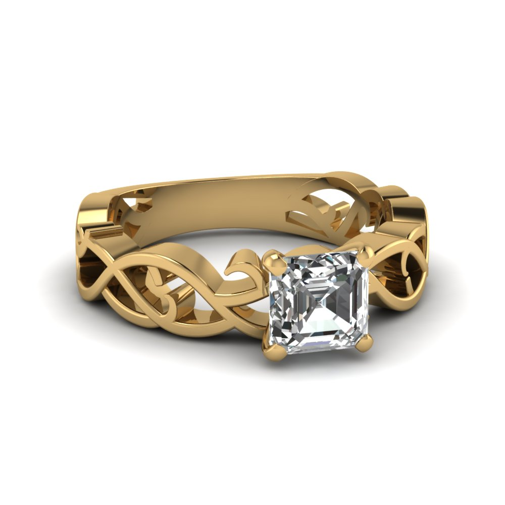 Asscher Cut Solitaire Engagement Rings
