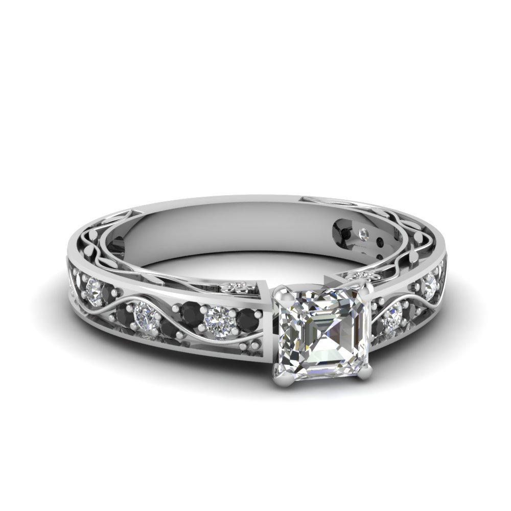Buy Classy Black Diamond Engagement Rings Online  Fascinating Diamonds