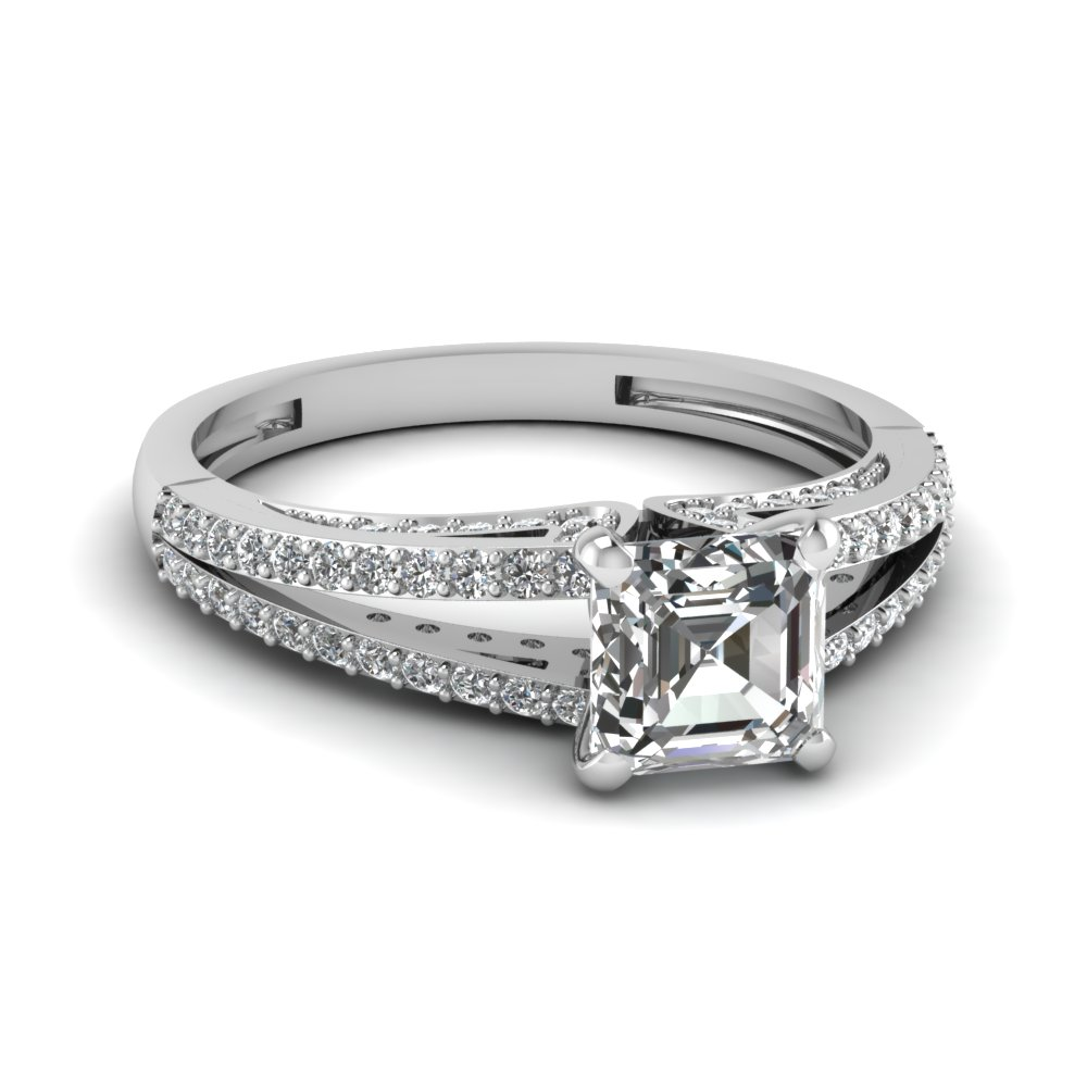 split asscher diamond engagement ring in FDENS3131ASR NL WG