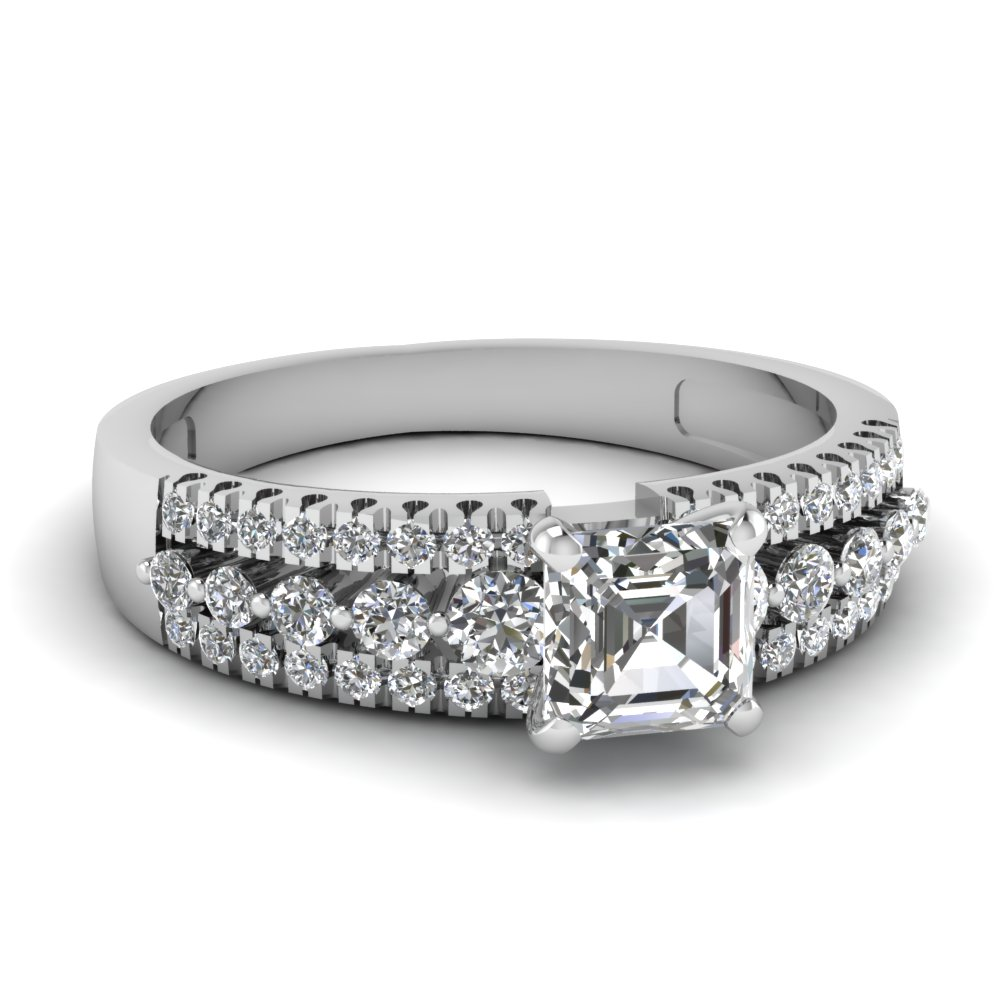 Find outstanding collection of Asscher Cut Jewelry Online | Fascinating Diamonds