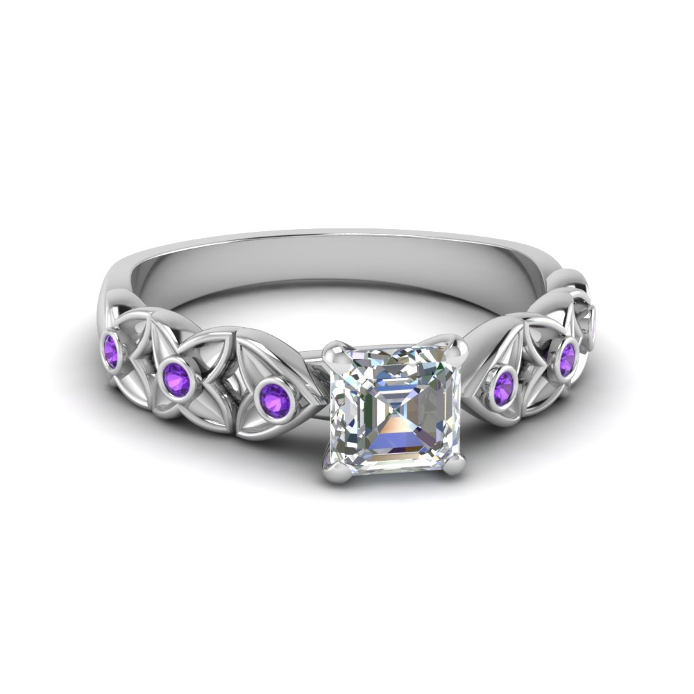 Natural Purple Topaz Ring